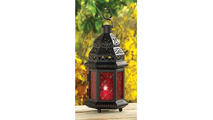 Red Glass Moroccan Lantern 2