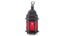 Red Glass Moroccan Lantern