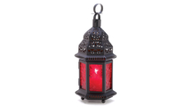 Red Glass Moroccan Lantern 1