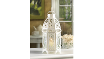 White Lattice Lantern 2