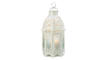 White Lattice Lantern 1