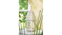 White Moroccan Lantern 2