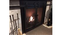 Barn Door Fireplace Door