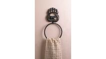 Black Bear Paw Towel Ring