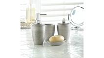 Silver Shimmer Bath Accessory Set