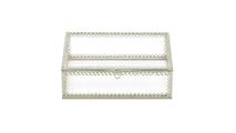Silver Trim Glass Box