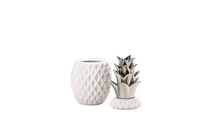 """12"""" Silver Topped Pineapple Jar"""