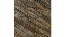 Close Up of the Stacked Boat Wood Mosaic Wall Tile