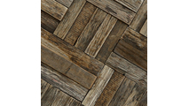 Close Up of the Weave Boat Wood Mosaic Wall Tile