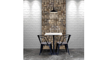 Weave Boat Wood Mosaic Wall Tile Dining Room Setting