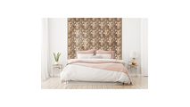 Authentic Boat Wood Mosaic Wall Tile Bed Room Setting