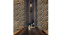 Reclaimed Boat Wood Mosaic Wall Tile Dining Room2