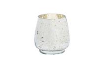 Silver Mercury Glass Hurricane (M)