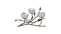Triple Tealight Birdies Candle Holder