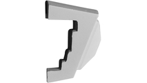 White Carrillo Accessory Recessed Mount Wall Niche Side View