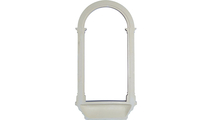 White Carrillo Recessed Mount Wall Niche Backside View