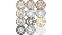 Faux Iron Cannes Pierced Ceiling Medallion finishes