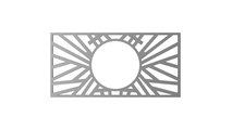 Faux Iron Hoover Pierced Ceiling Medallion