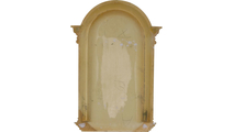 White Small Waltz Recessed Surface Mount Wall Niche Backside View