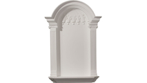 White Small Waltz Recessed Surface Mount Wall Niche