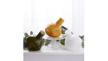 Hunter Green Abstract Vase