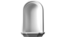 White Traditional Recessed Mount Wall Niche