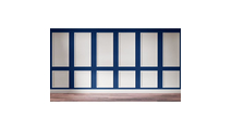 """12"""" Wide Cornell Flat Decorative Wall Panel in White Front View"""