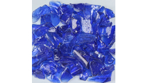 Dark Blue Terrazzo Glass