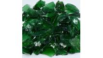 Dark Green Terrazzo Glass