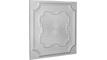 """24"""" Eryn Urethane Ceiling Tile Angled View"""