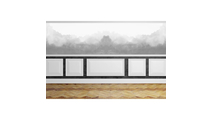 """12"""" Wide Harrison Raised Decorative Wall Panel Front View"""