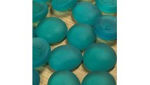 Teal Frosted Glass