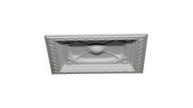"""24"""" Colonial Urethane Ceiling Tile Angled View"""