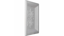 """24"""" Floral Urethane Ceiling Tile Angled View"""