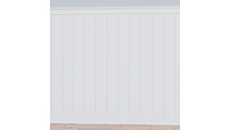8' PVC Deluxe Shiplap With A Nickel Gap Wainscot Kit Front View
