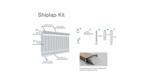 8' PVC Deluxe Shiplap With A Nickel Gap Wainscot Kit Parts Diagram