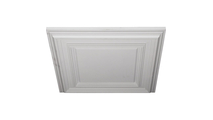 """24"""" Classic Square Urethane Ceiling Tile Angled View"""