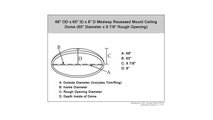 """58"""" Medway Ceiling Dome Specifications"""