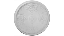 """46"""" Benson Ceiling Dome Flat View"""