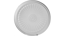 """44"""" Edwards Ceiling Dome Flat View"""