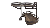 """15"""" Dark Bronze Finish and Walnut Textured Blind Corner Swing Out Right Handed Unit"""