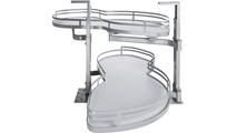 White Laminated Non-slip Shelves with Chrome Edging