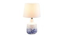 White & Blue Splash Table Lamp