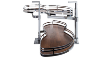 """21"""" Polished Chrome Finish and Walnut Textured Blind Corner Swing Out Right Handed Unit"""