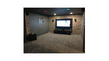 Dry Stack Stone Endurathane Stonewall Faux Siding Panel Theater Room