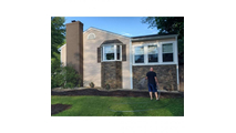 Stacked Stone Faux Siding Panel House Back View