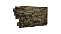 Stacked Stone Faux Siding Panel Grey
