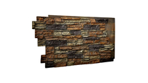 Stacked Stone Faux Siding Panel Redstone