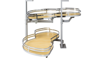"""21"""" Maple Laminated Textured and Polished Chrome Finish Blind Corner Swing Out Left Handed Unit"""