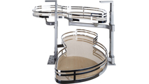 """21"""" Maple Laminated Textured and Polished Chrome Finish Blind Corner Swing Out Right Handed Unit"""